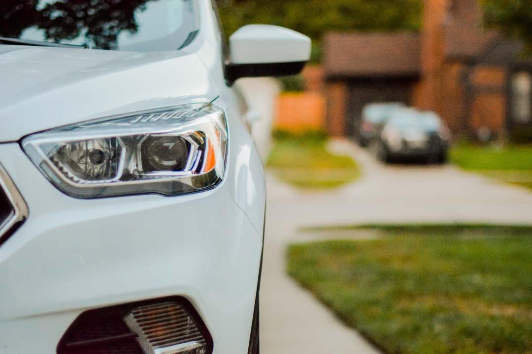 car in driveway