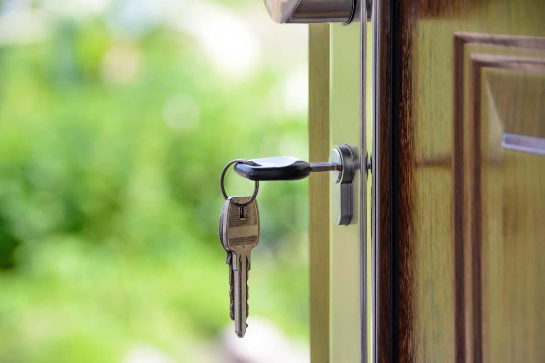 Keys in home's front door