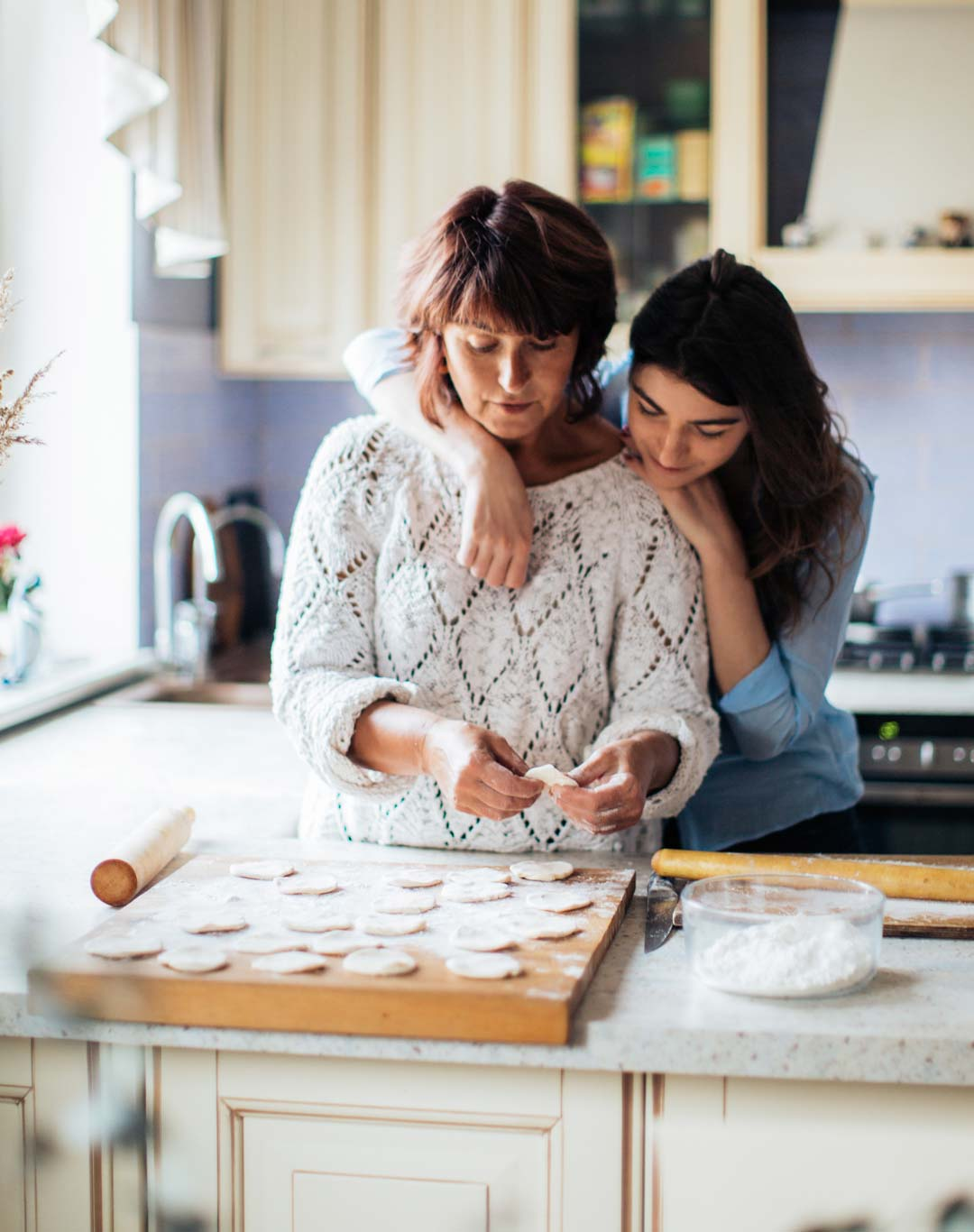 Mother and daughter thinking about medicare